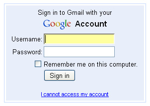 gmail sign in account