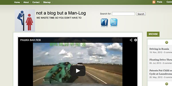 Not a Blog but a Man-Log