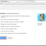 Authorize Hootsuite with your Google+ Account (you must be signed in to desired Google+ account already)