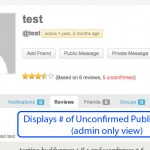 public reviews admin view 150x150 BP WP Profile Reviews and Rating Plugin